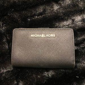 Michael Kors black folding wallet